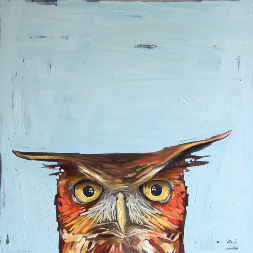 Earl - 30x30 inches, oil on board by Melissa Townsend