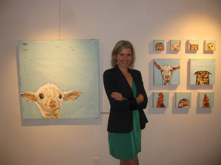 Melissa Townsend with her art
