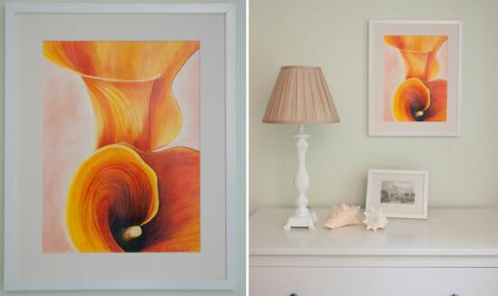 orange callas collage