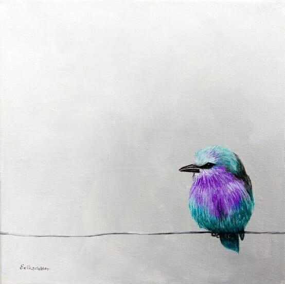pretty birdy on a wire