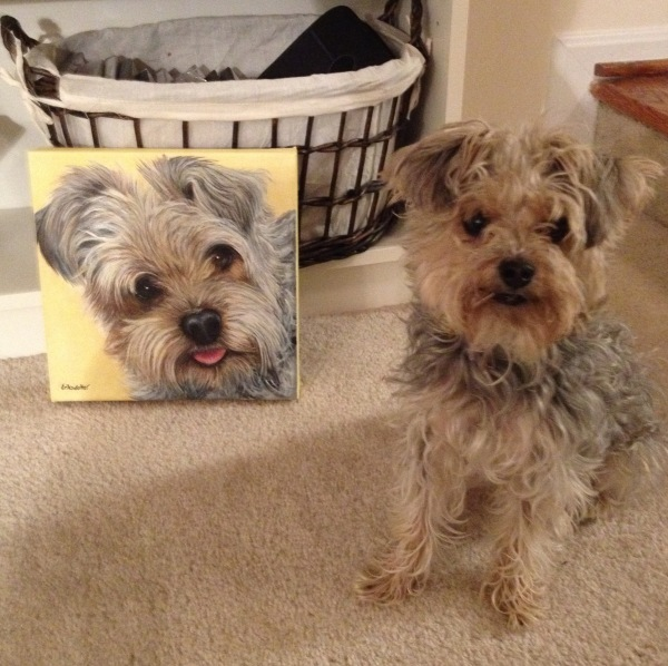 Mosby's Portrait - original painting modeled by the real Mosby