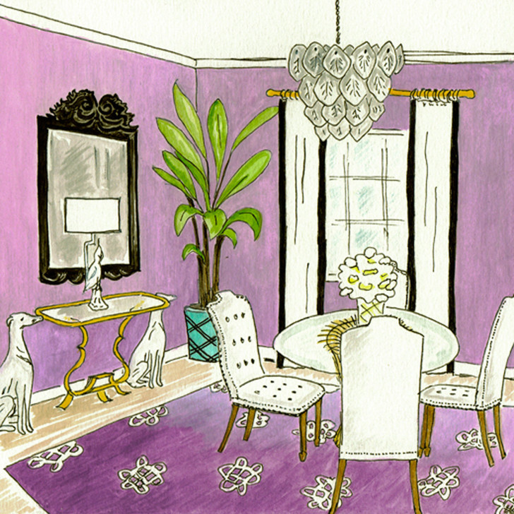 Glamour Girl Diningroom - original front