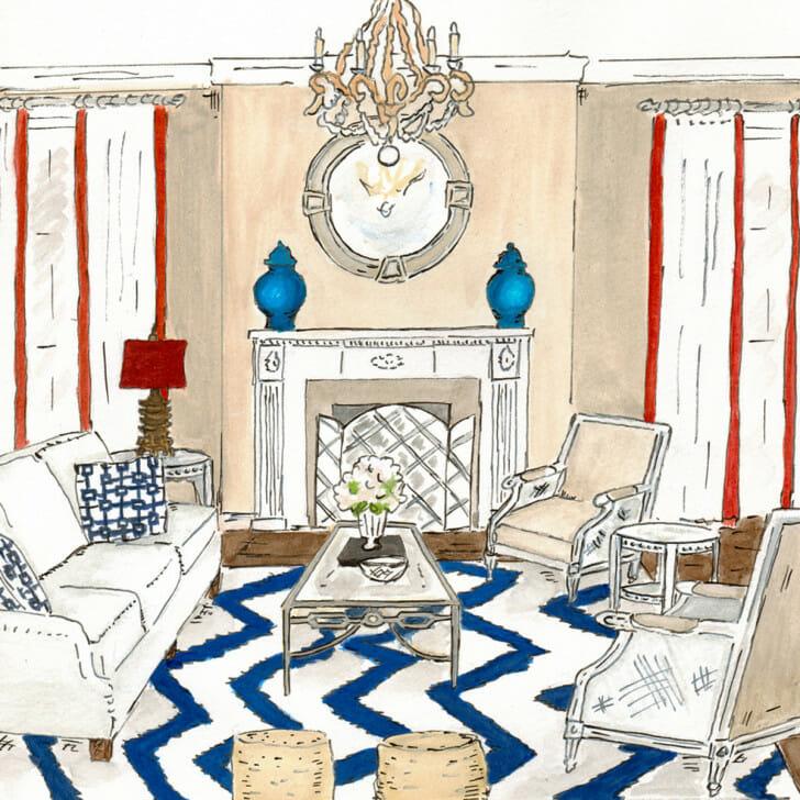 Hamptons Livingroom - original front