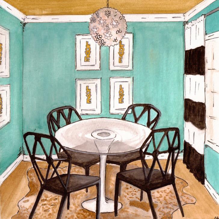 Recessionista Diningroom - original front
