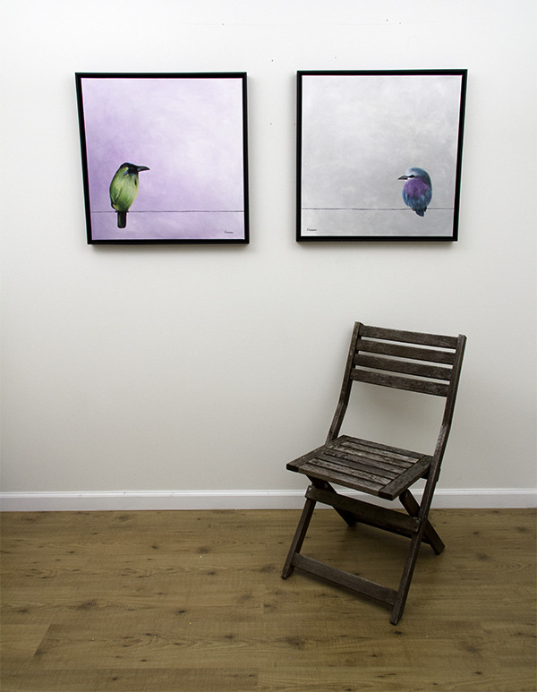 Mr. Green and Mr. Purple - originals with chair