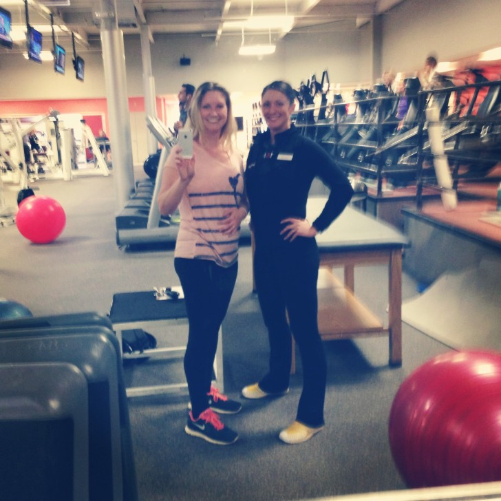 Me and my personal trainer, Jenn of Sport & Health