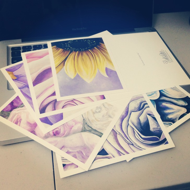 Shades of Purple - notecards