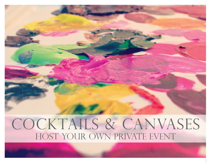Host your own private Cocktails & Canvases!