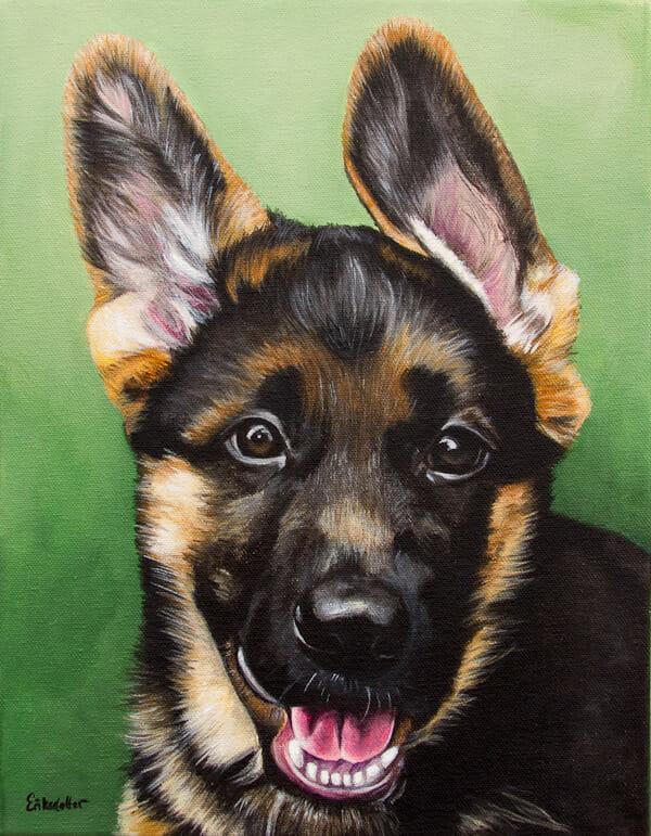 Sam's Portrait - original pet portrait