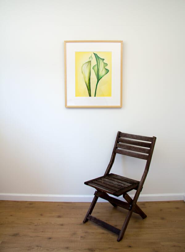Green Callas - original with chair