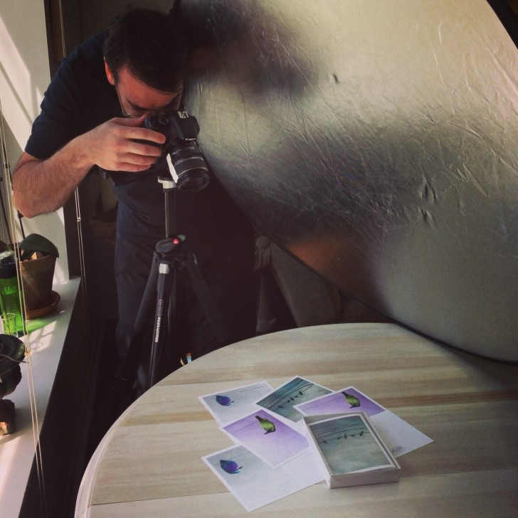 Photographing Notecards