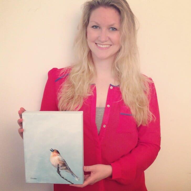 Erica and Scottish Songbird, original painting