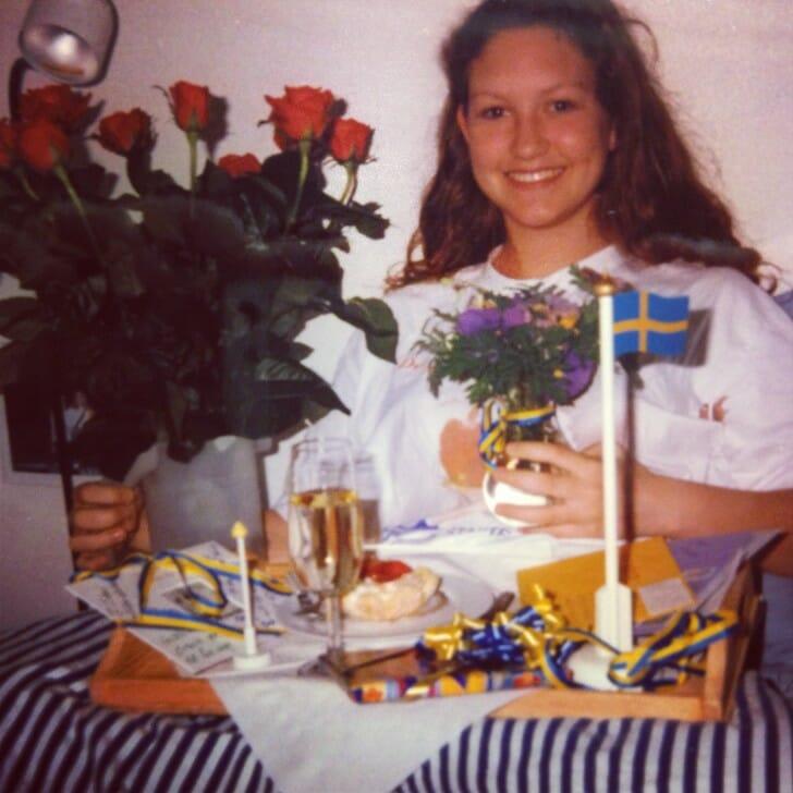 A traditional Swedish birthday celebration - turning 18!