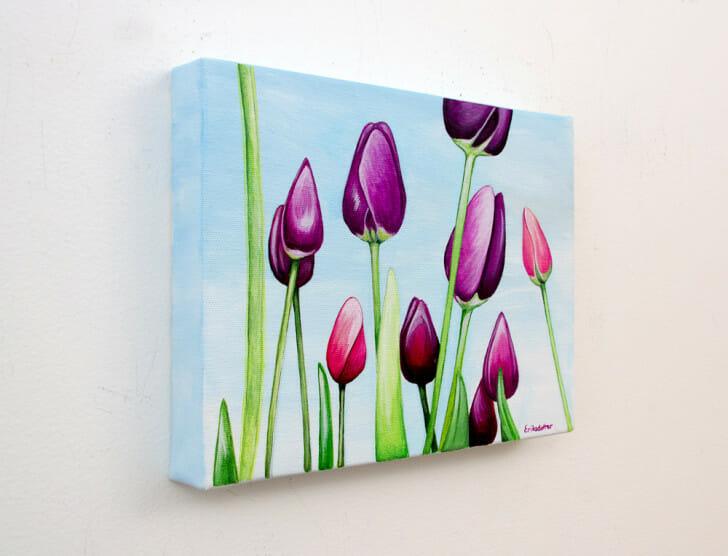 Field of Purple Tulips - Spring Art Auction 2013, left