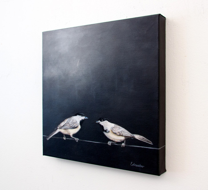 Two Birds on a Wire - Spring Art Auction 2013, right