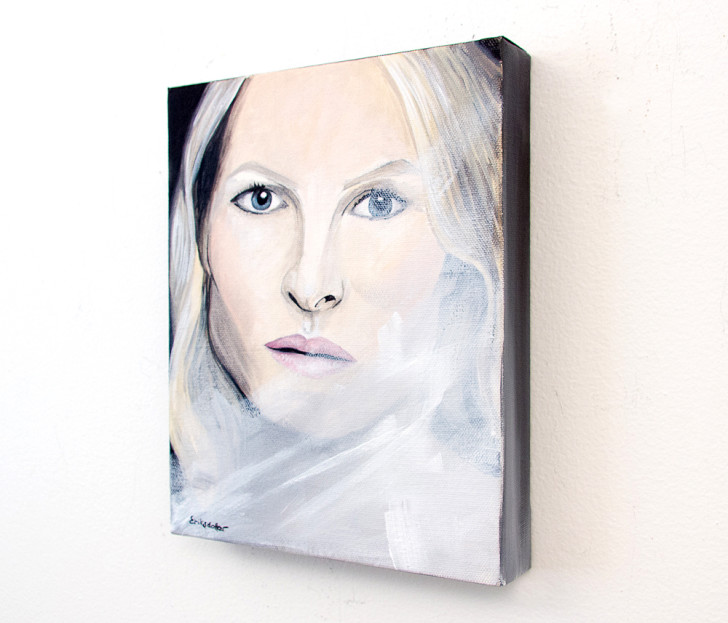 The Woman - Spring Art Auction - original painting, right
