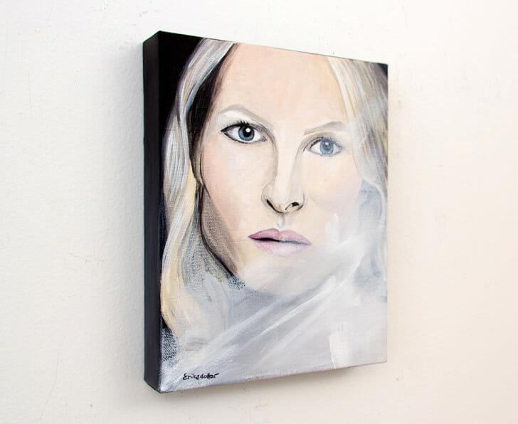 The Woman - Spring Art Auction - original painting, left