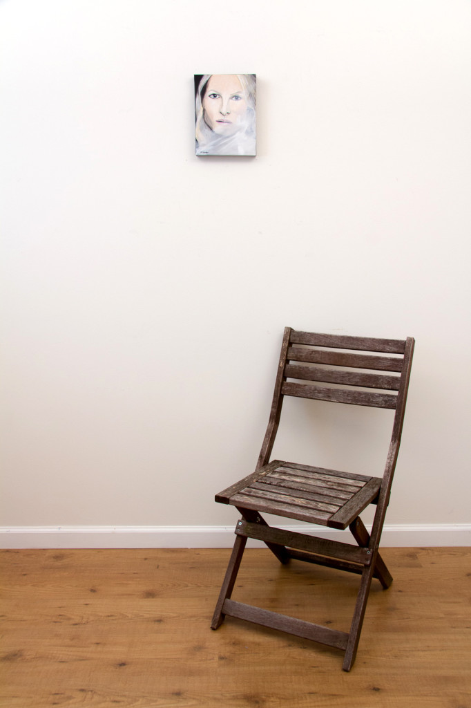 The Woman - Spring Art Auction - original painting, with chair