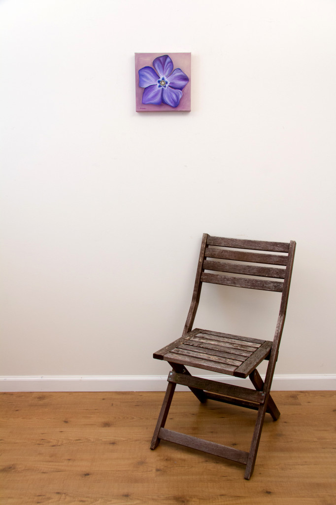 Periwink-wink - Spring Art Auction 2013, with chair