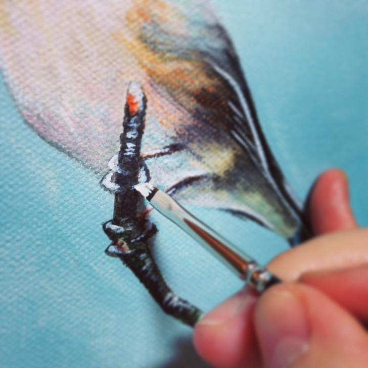 Scottish Songbird - painting