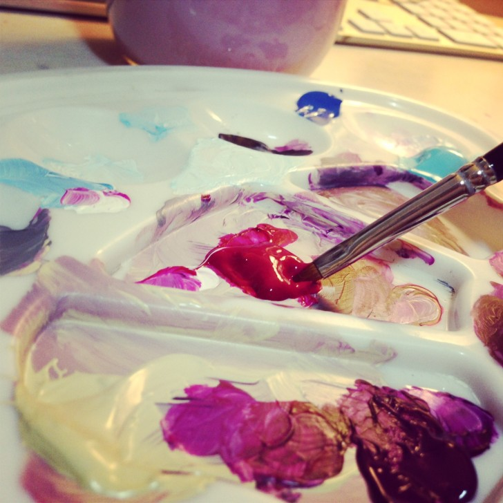 Palette with Dabs of Paint
