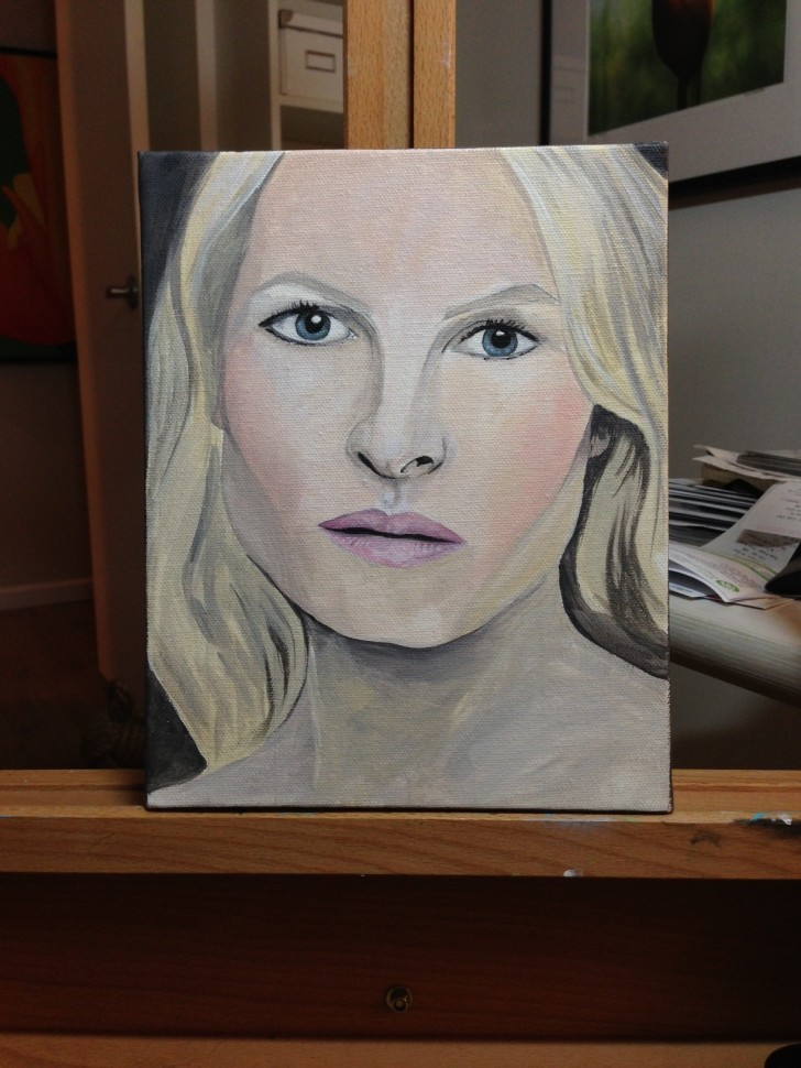 Woman and the Veil - in progress