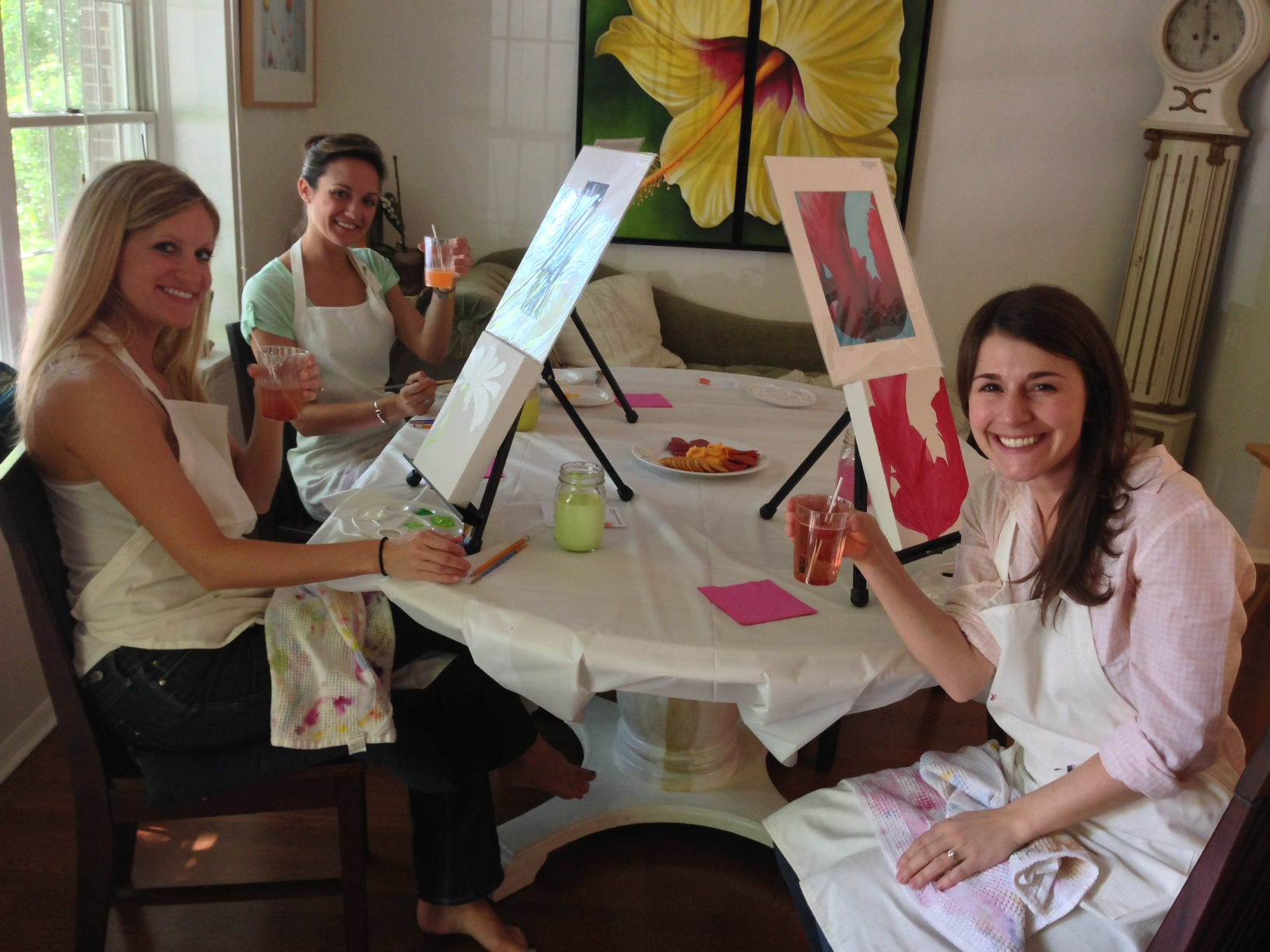 Cocktails & Canvases - Diana's private party