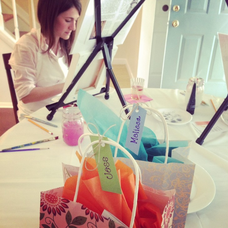 Diana's Cocktails & Canvases - gift bags