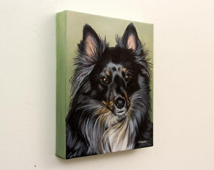 Austin's Pet Portrait - original painting, right