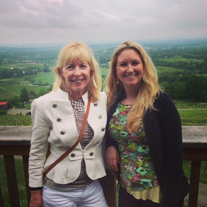 Maud and Erica at Bluemont Vineyard