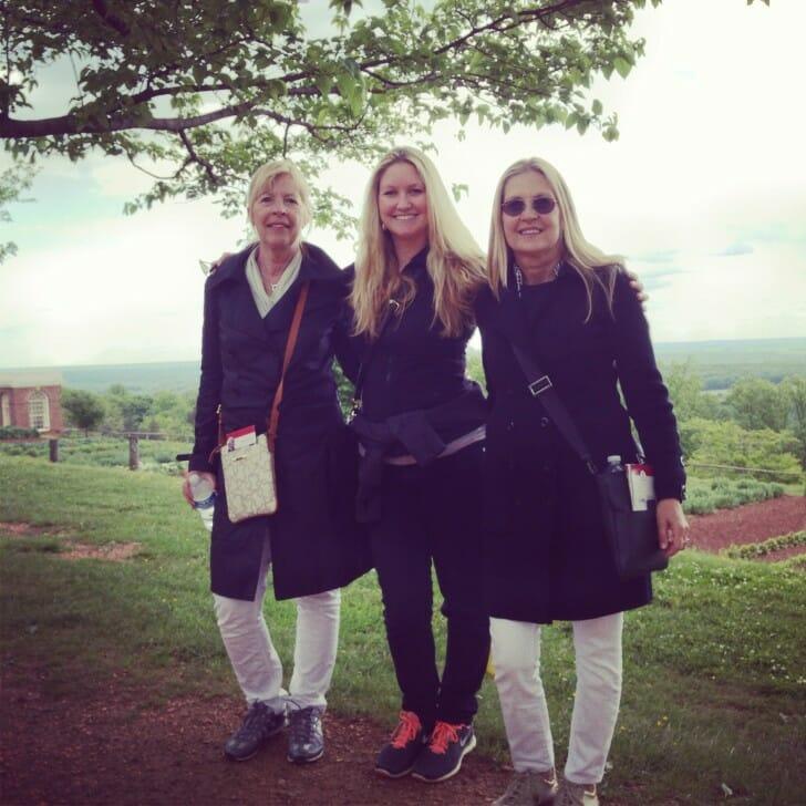 Maud, Erica and Marita at Monticello in Charlottesville