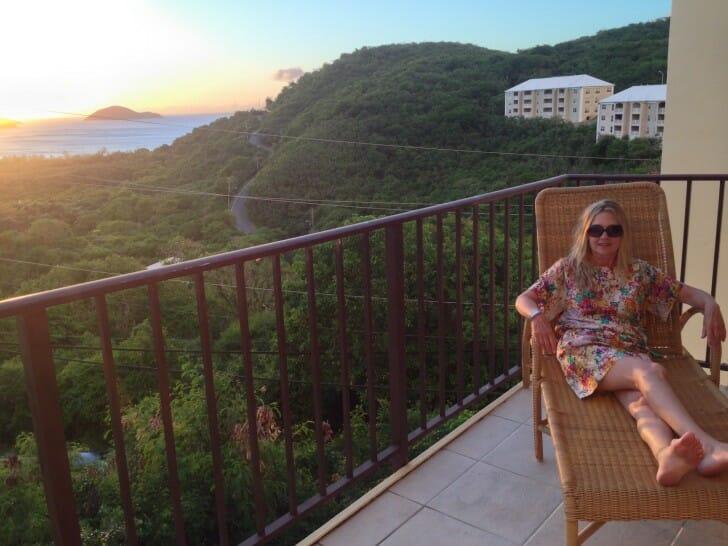 Mom on the balcony