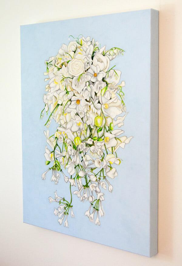 Sweden's Crownprincess Victoria's bridal bouquet painting