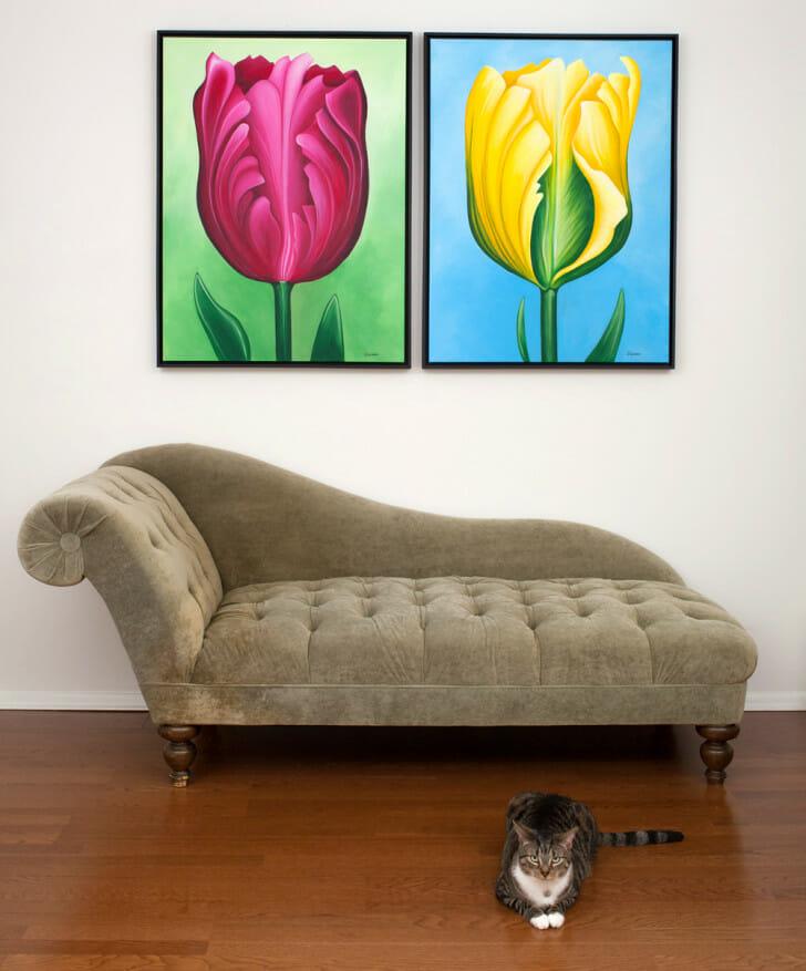 Unwavering Tulips - original paintings by Erica Eriksdotter