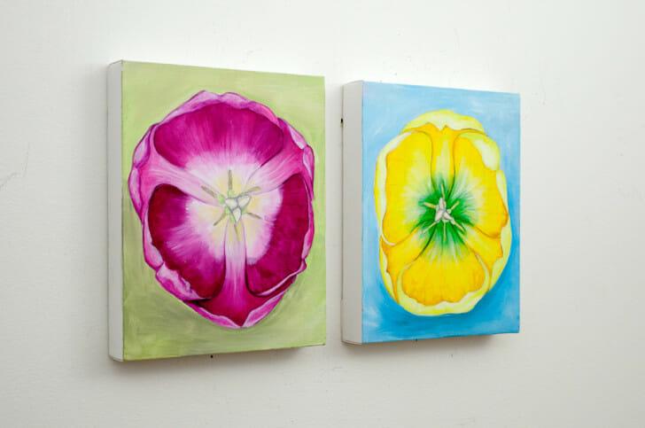 Fruity Tulips - original field sketches, left