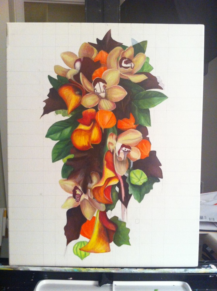 Denise's Bridal Bouquet - early draft