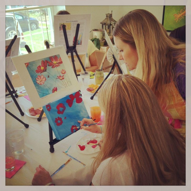Cocktails & Canvases - painting party hosted by Erica Eriksdotter
