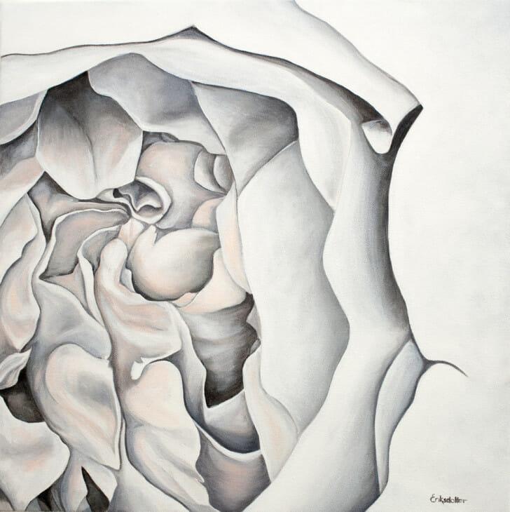 Melanie's Bridal Bouquet - original painting by Erica Eriksdotter