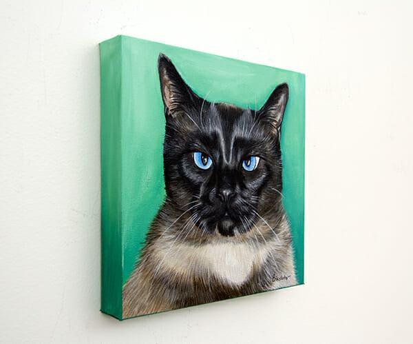 Mr Kitty Cat - original pet portrait by Erica Eriksdotter
