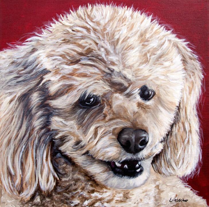 Cocoa's Portrait - Original pet portrait by Erica Eriksdotter
