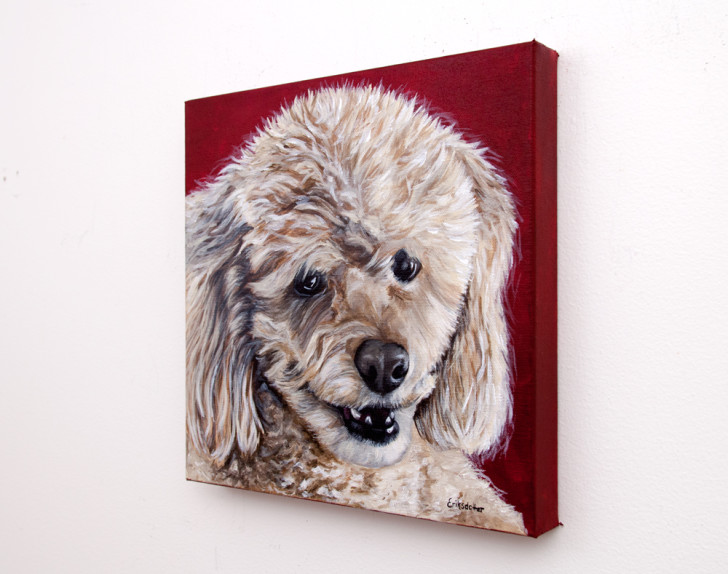 Cocoa's Portrait - Original pet portrait by Erica Eriksdotter, right