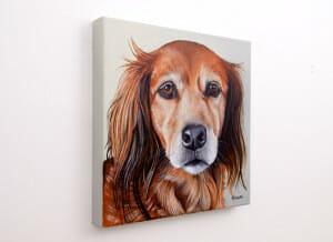 Pet portrait of a french bulldog by artist Erica Eriksdotter