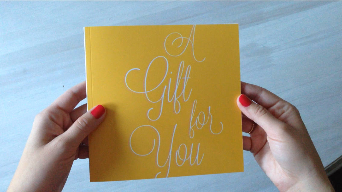 A Gift for You - Studio Eriksdotter gift card book, front cover