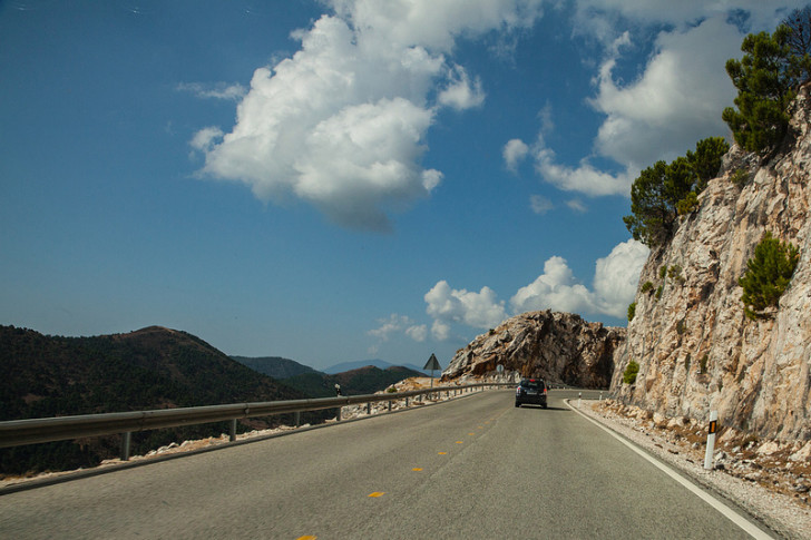 Driving to Ronda, Spain