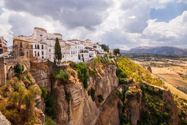 View from the New Bridge in Ronda, Spain