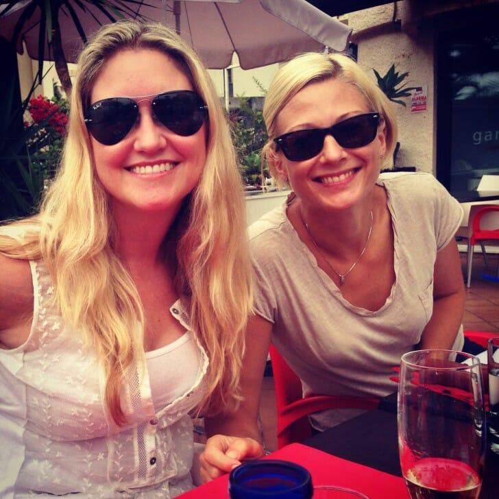 Erica and Linn in Marbella, Spain