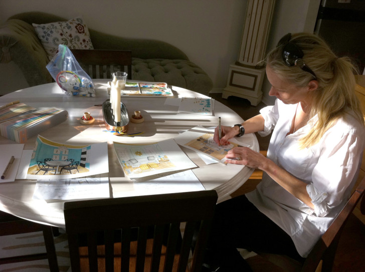 Jill Sorensen working on the Recessionista LiveLikeYou renderings