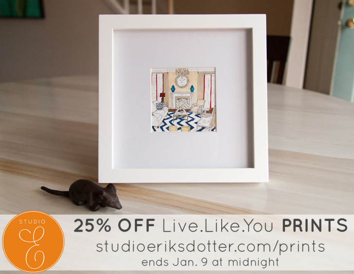 LiveLikeYou Prints - rendering and design by Jill Sorensen and watercoloring by Erica Eriksdotter