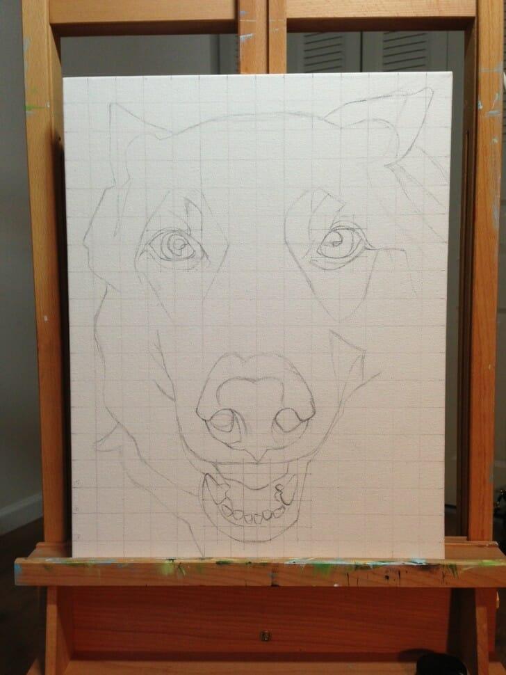 Sasha pet portrait in progress 1 aug 2013