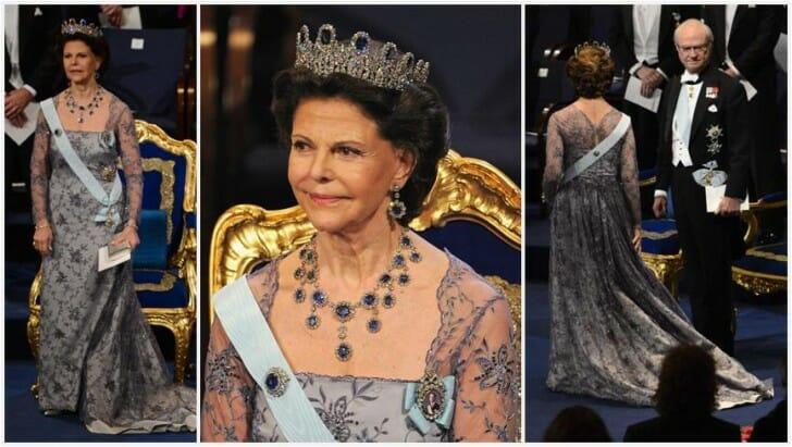 Queen Silvia at Nobel 2012 - via Order of Splendor